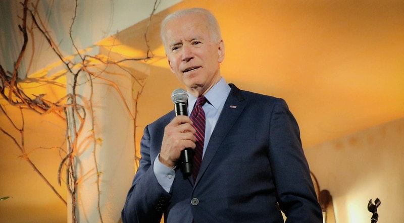 Joe Biden speaking at an event in March. Photo: Louise Palanker/flickr.